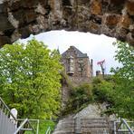 Rheinfahrt. Burg Klopp.